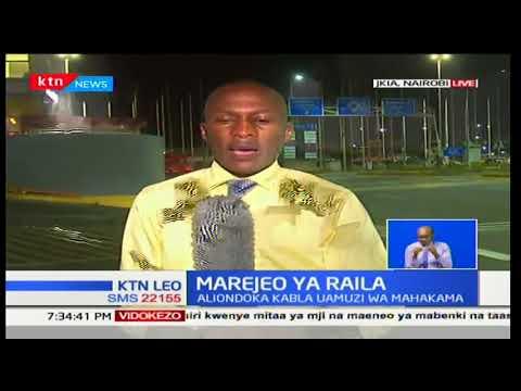 Raila Odinga arejea baada ya kuzuru nchi Tanzania na Zanzibar kwa mikutano