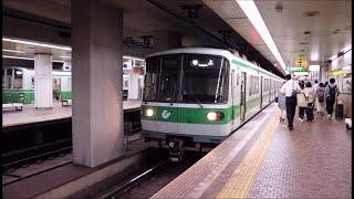 神戸市営地下鉄 新神戸駅に3000形谷上行きが到着~発車まで