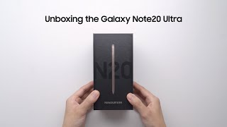 Galaxy Note20 Ultra: Official Unboxing | Samsung