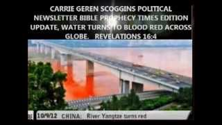 CARRIE GEREN SCOGGINS POLITICAL NEWSLETTER BIBLE PROPHECY TIMES EDITION WATER TURNED BLOOD RED
