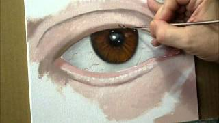 FREE Lesson. How To Paint in Oil of a Realistic Eye, Time-Lapse by Christopher Shellhammer
