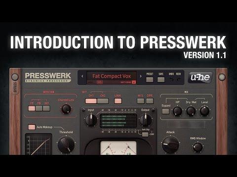 What's new in u-he Presswerk compressor version 1.1