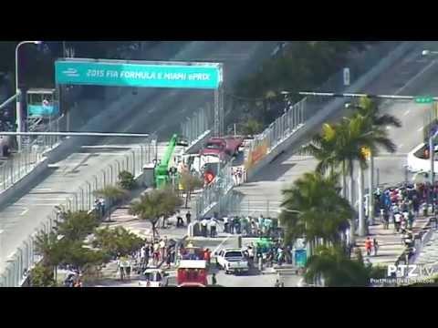 2015 FIA Formula E Miami ePRIX on Port Miami Webcam