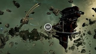 EVE: Valkyrie VR Carrier Tour (360 Degree Video)