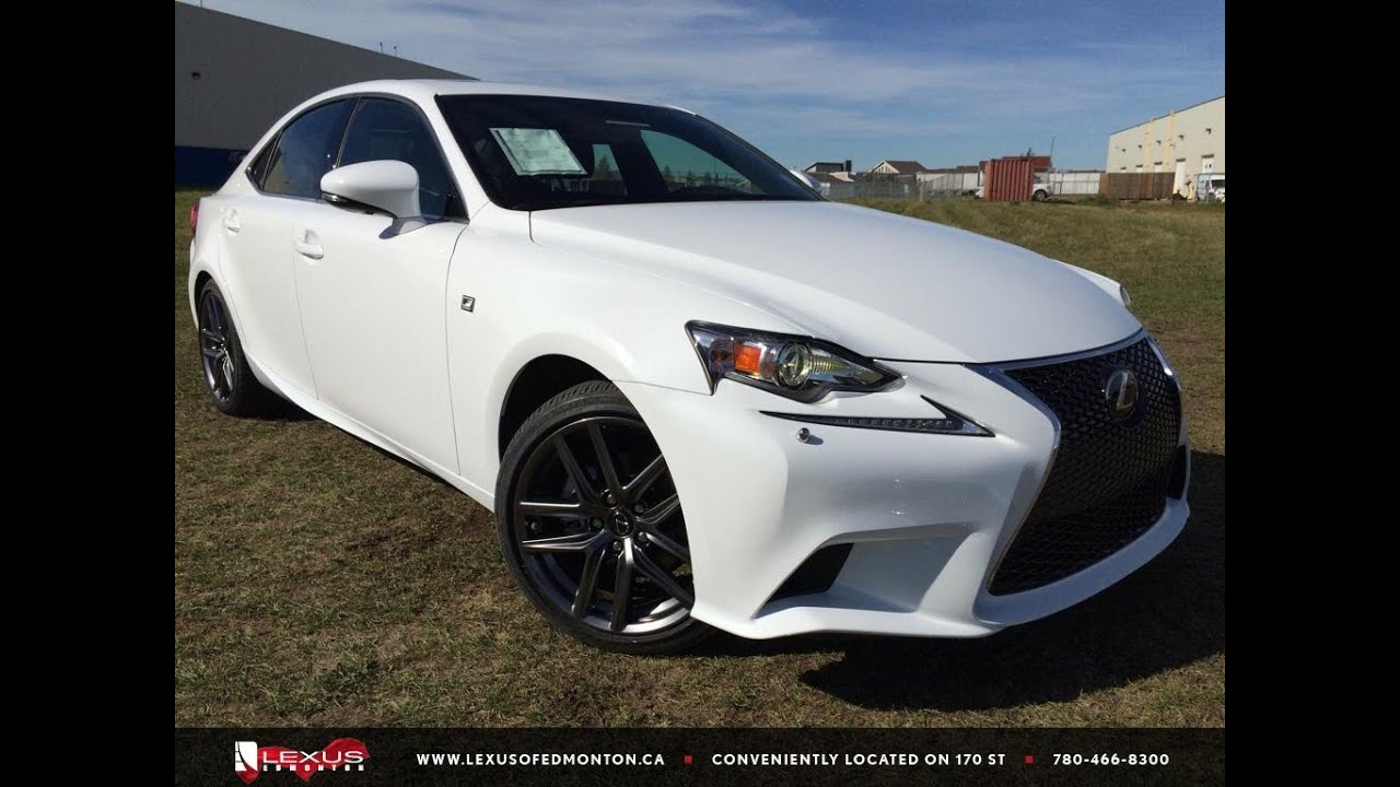new ultra white 2015 lexus is 250 awd f sport series 3 in depth review northeast edmonton. Black Bedroom Furniture Sets. Home Design Ideas