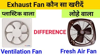 How To Purchase Exhaust Fan Difference Ventilation Or Fresh Air Fan कहां पर यूज किया जाता है