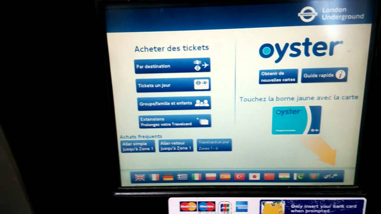 Visiter Londres London Transports en commun recharger oyster card