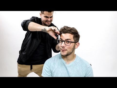Textured Mens Haircut Tutorial For Thick Wavy Hair Matt Beck Vlog 110 Youtube