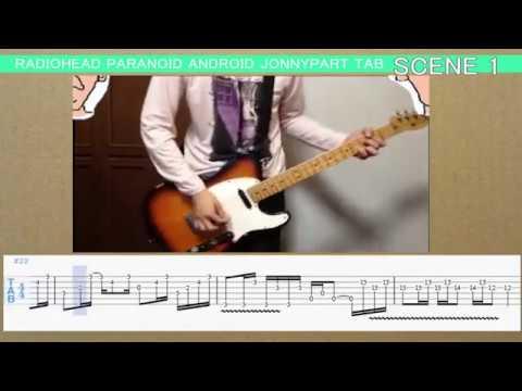 Paranoid android Worthless tutorial & TAB (Jonny guitar)RADIOHEAD