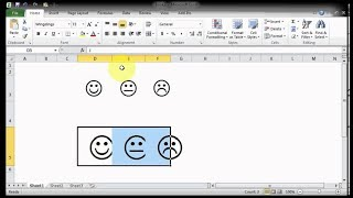 Excel tricks|How to make thumb up and down,happy and sad face in Excel?