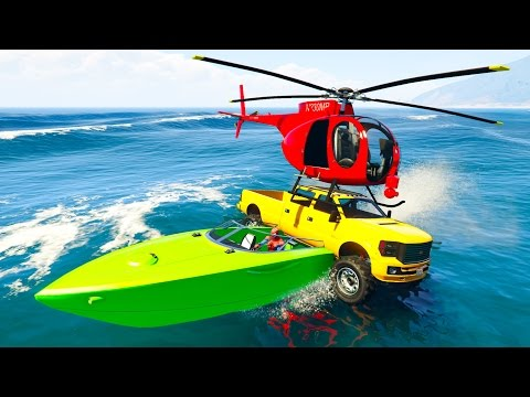 Thumbnail: COLOR HELICOPTERS on BOATS and CARS! Funny 3d cartoon for kids and babies