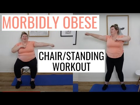 Morbidly Obese CHAIR/STANDING Workout / Mobility Issues/Seniors/Recovery (No Equipment/No Impact)