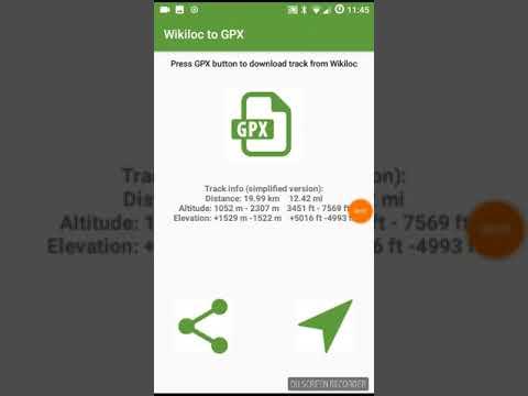 Wikiloc to GPX (Garmin Connect, GPX Viewer, ...)