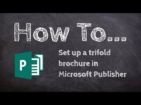 How to set up a trifold brochure in Microsoft Publisher