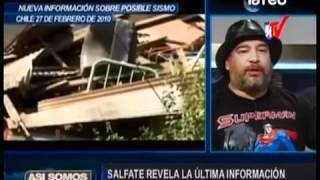 Salfate anuncia sismo 5 a 7  en Chile zo...