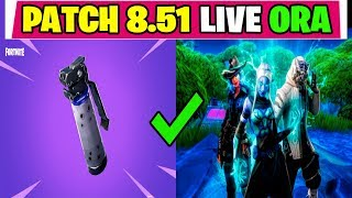 NEW PATCH UPDATE 8.51 FORTNITE LIVE ITA BIG OMBRA