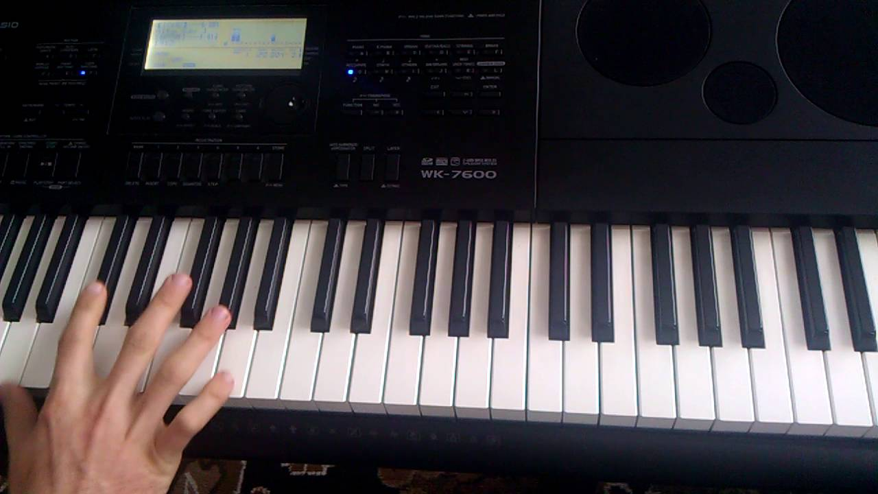 d12 my band casio wk 7600 piano tutorial youtube. Black Bedroom Furniture Sets. Home Design Ideas