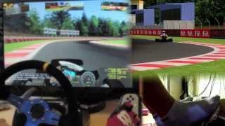 karting - rFactor 2 mod Logitech G27 gameplay, Custom Steering Wheel, feet/clutch. 1080p 2013