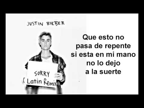 Justin Bieber - Sorry (Latino Remix / Audio) ft. J Balvin Español Lyrics