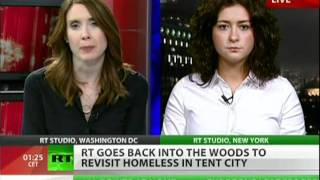 Homeless Americans forced to live in tents