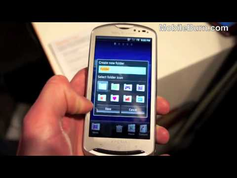 Sony Ericsson Xperia pro - live video first look