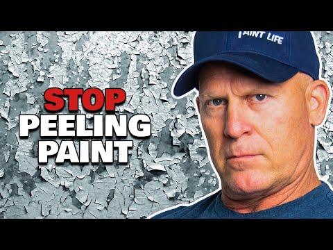 How To Stop Or Repair Peeling Paint.