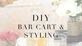 DIY MARBLE BAR CART & STYLING: IKEA. HOMEGOODS.