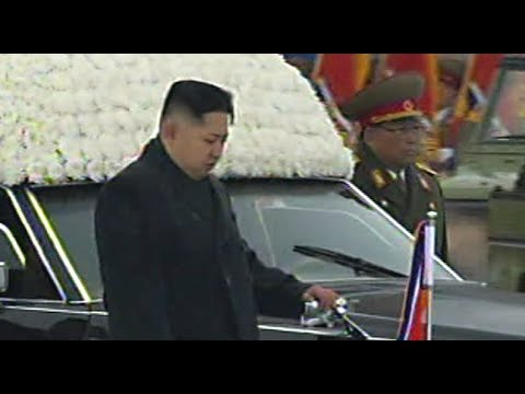 Scenes of mass grief as mourners line streets at funeral for Kim Jong Il-  2011