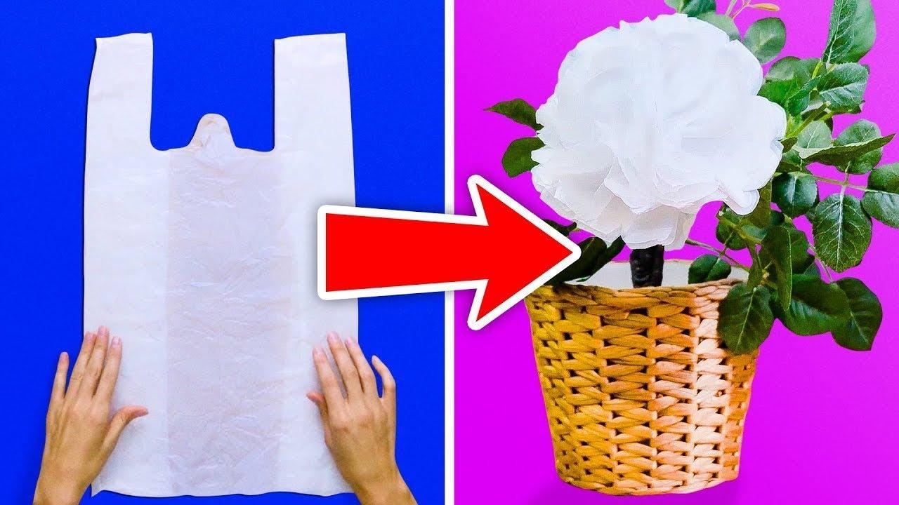 18 Trucos E Ideas Con Bolsas De Plástico Youtube