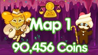 Cookie Run Line Map 1 Coin Farming 90,000 Coins