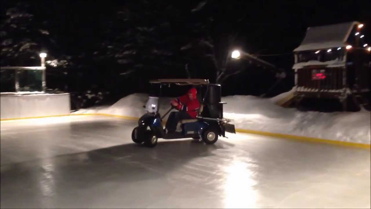 Backyard Rink Zamboni : How to water your backyard rink with a golf cart Zamboni  YouTube