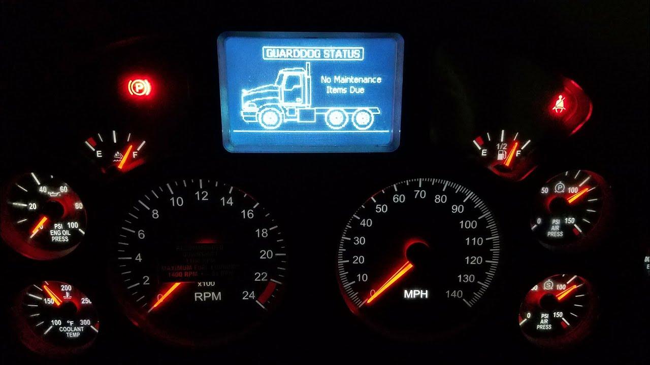 Mack Truck - How To Set The Clock & Change Settings