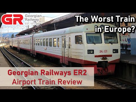 Georgian Railway Review (Tbilisi Central to Tbilisi Airport) - The Worst Train in Europe?