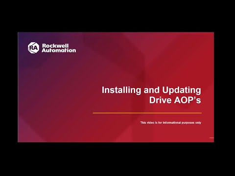 How To Install And Update Drive AOP Files
