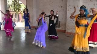 "Girls Performing on ""Radha Nachengi"" at Parshuram Joma Mhatre Vidyalaya School."