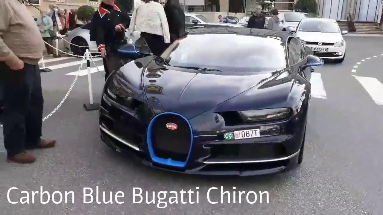 Bugatti Chiron Carbone Bleu et GMK au Casino de Monte-Carlo