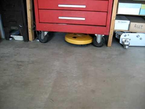 iRobot Dirt Dog cleaning the garage