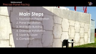 "Geosynthetic Application | How ""precast Panel Facing Reinforced Soil Structure"" Is Done?"