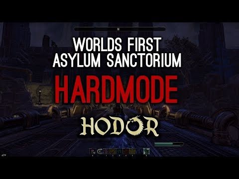Worlds First Hardmode Asylum Sanctorium clear by Hodor - Clockwork City ESO