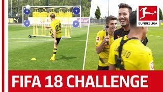 Dortmund Star Christian Pulisic Takes on The EA Sports FIFA 18 Bundesliga Free Kick Challenge