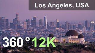 Лос-Анджелес США. 360 видео с воздуха в 12К