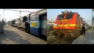 Diesel to Electric Loco change at Lucknow : 12875 Neelachal sf express