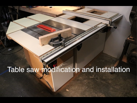 Table saw modification and installation youtube greentooth Choice Image
