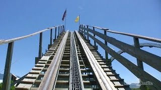 New Mexico Rattler Coaster POV Cliff S Amusement Park Albuquerque New Mexico USA