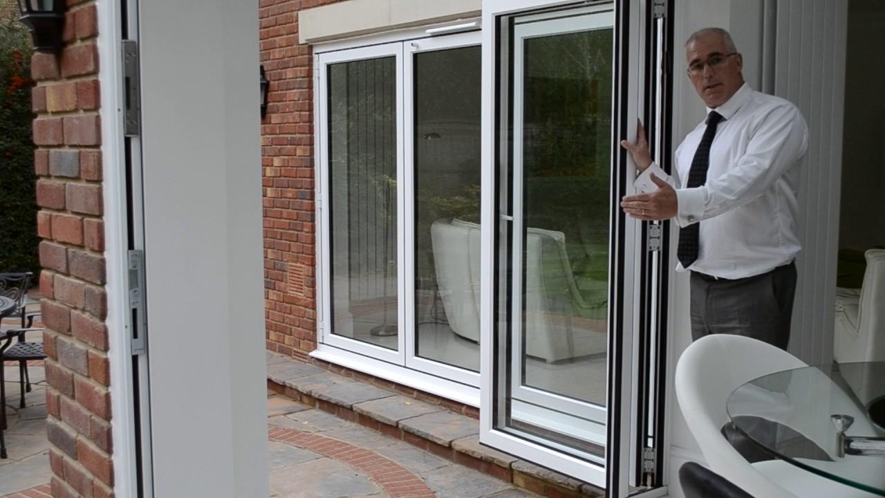 2 Panel Bifold Doors In White Aluminium
