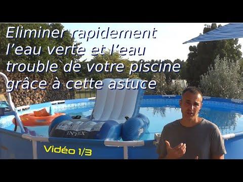 Eliminer rapidement l 39 eau trouble de votre piscine grace - Comment recuperer eau trouble piscine ...