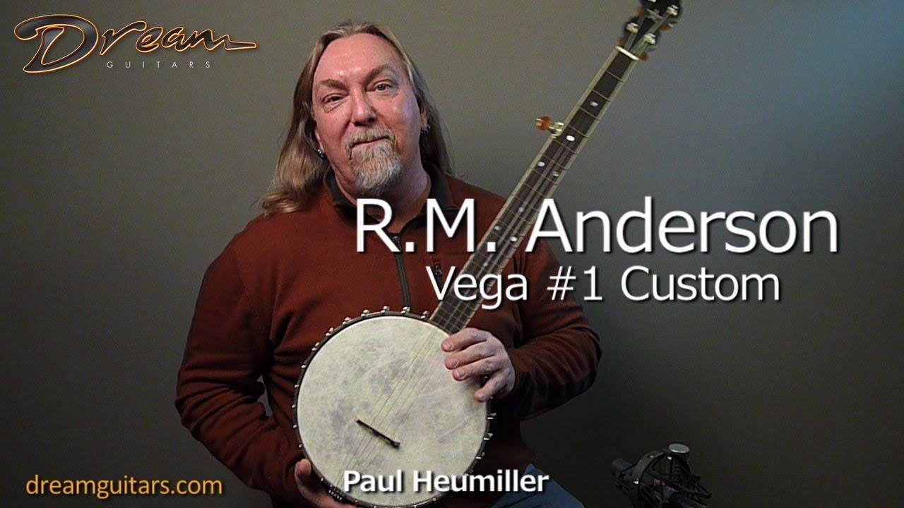 New R M  Anderson Vega #1 Custom Banjo