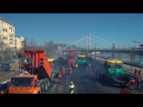 Дорожно-ремонтные работы на Фрунзенской набережной