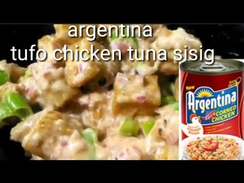how to make Tufo chicken tuna sisig recipe easy! (tipid tips perfect for ulam and pulutan) enjoy!