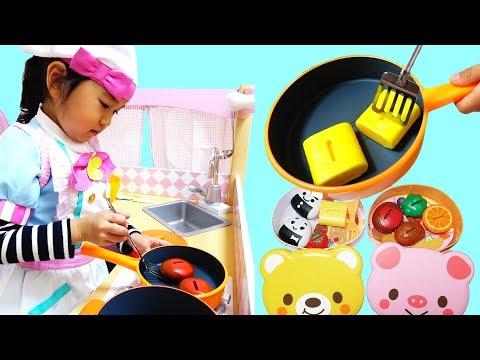 お腹が空いたパパにお弁当を作ろう!キッチン♡おままごと お料理☆himawari-CH